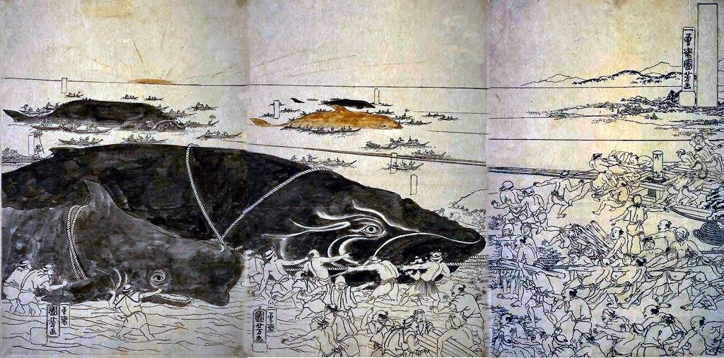 捕鯨の図 恵比寿 渋谷